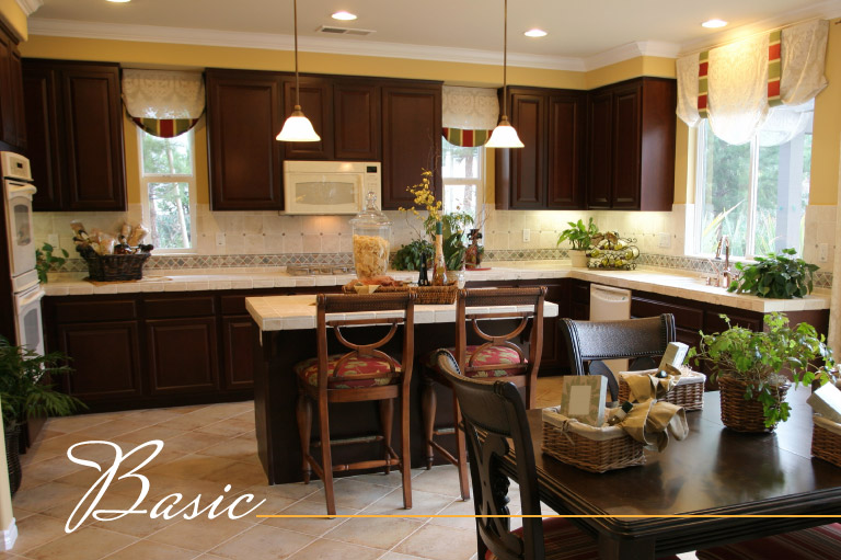 Basic lighting is one of three types needed for kitchen remodeling.