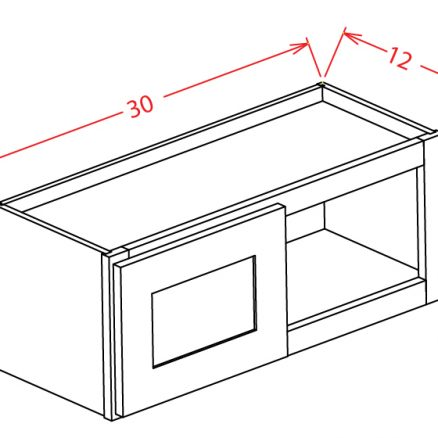 W3012 Bridge Cabinet 30 inch by 12 inch Shaker Espresso