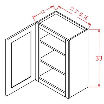 W3312 Bridge Cabinet 33 inch by 12 inch Shaker Sandstone