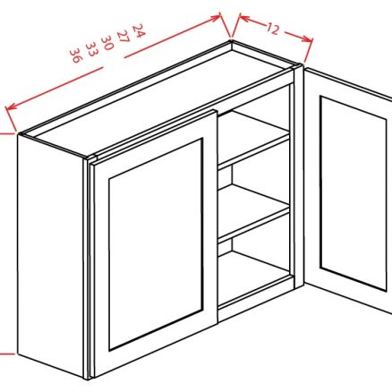 W2736 Wall Cabinet 27 inch by 36 inch Shaker Espresso