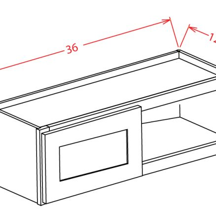 W3615 Bridge Cabinet 36 inch by 15 inch Shaker White
