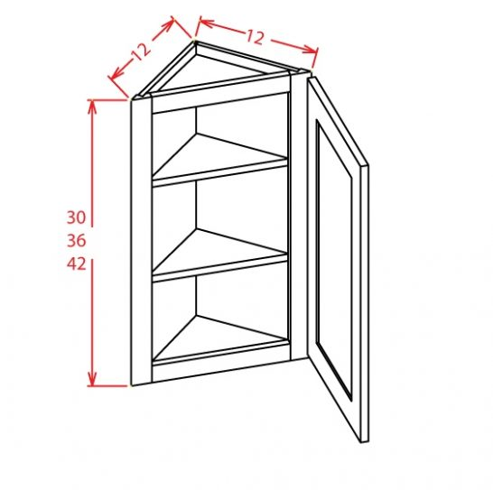 AW1230 Angle Wall Cabinet 30 inch Shaker White