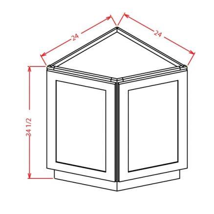 BEC24 Angle Base End Cabinet 24 inch Shaker Espresso