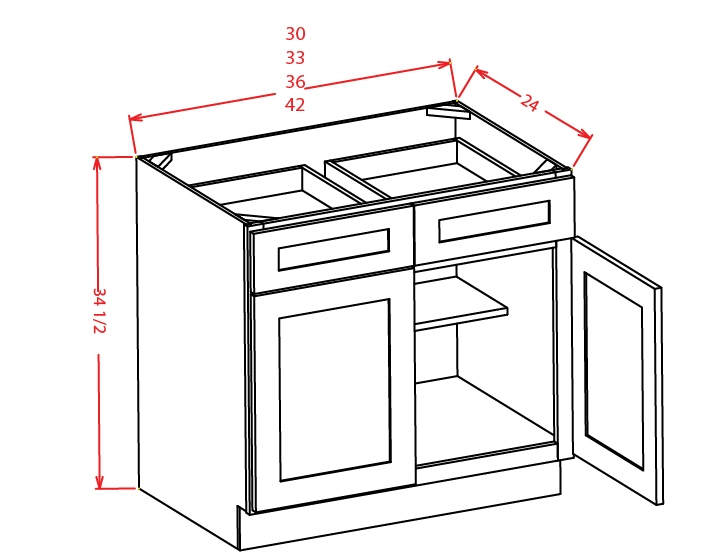 B30 Base Cabinet 30 inch Cambridge Antique White