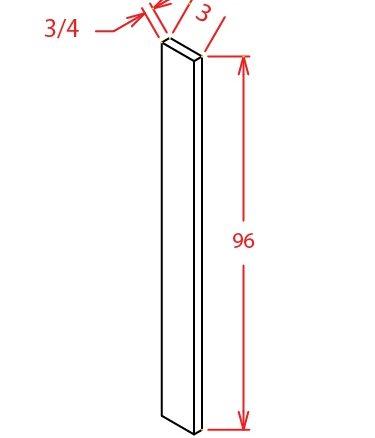 F396 Tall Filler 3 inch Wide Shaker Sandstone