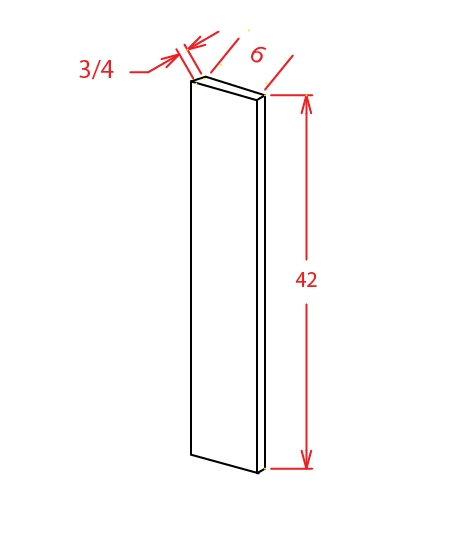 F642 Wall Filler 6 inch Wide Shaker White