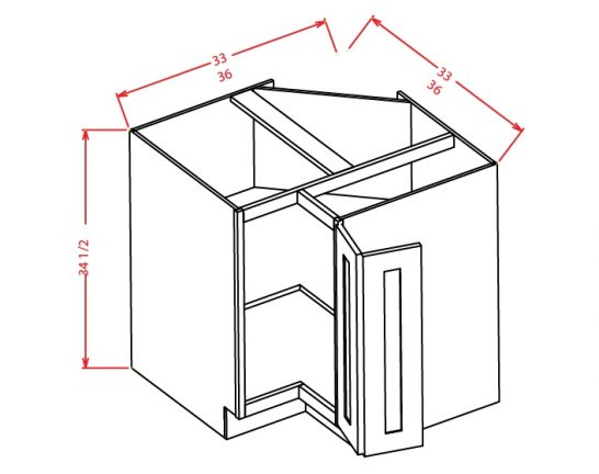 BER36 Base Easy Reach Cabinet 36 inch Cambridge Antique White