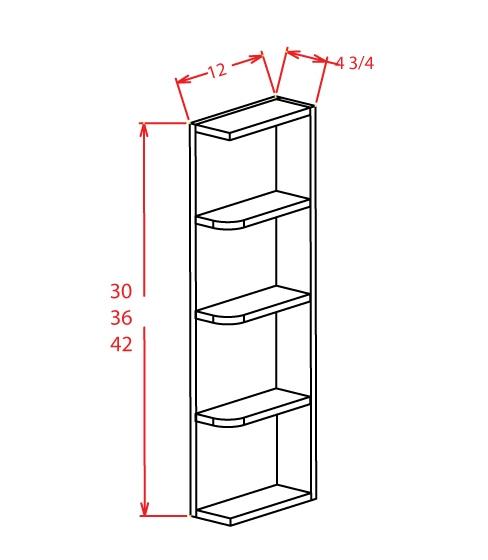 OE642 Wall End Shelf 6 inch by 42 inch Shaker Espresso