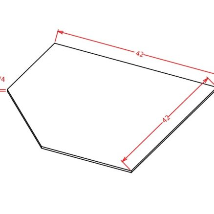 SBF4242 Diagonal Corner Sink Base Floor Shaker Espresso