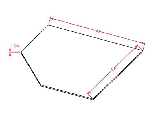 SBF4242 Diagonal Corner Sink Base Floor Shaker White