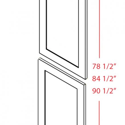 TDEP2490 Tall Decorative End Panel 24 inch by 90 inch Shaker White