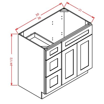 SE-VS27 - Vanity Sink Bases-Double Door Single Drawer ...