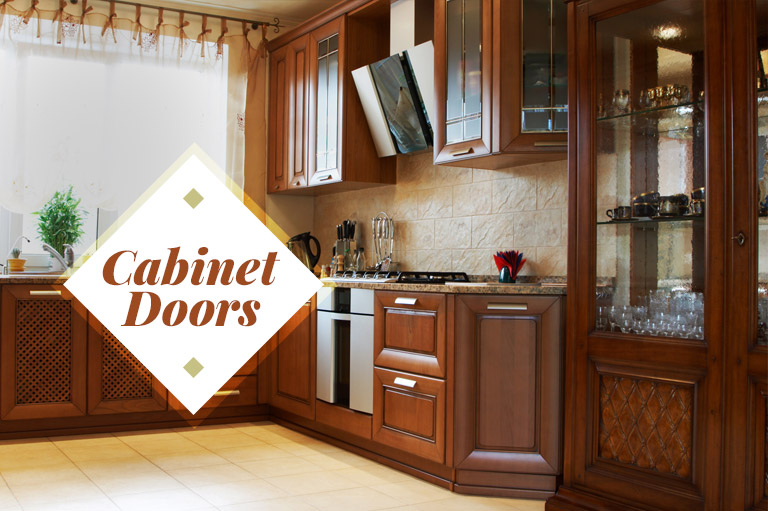 Homeowners like a mix of glass and wood doors for kitchen cabinets.
