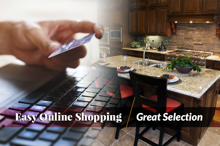 Our online wholesale cabinets make shopping easy for contractors.