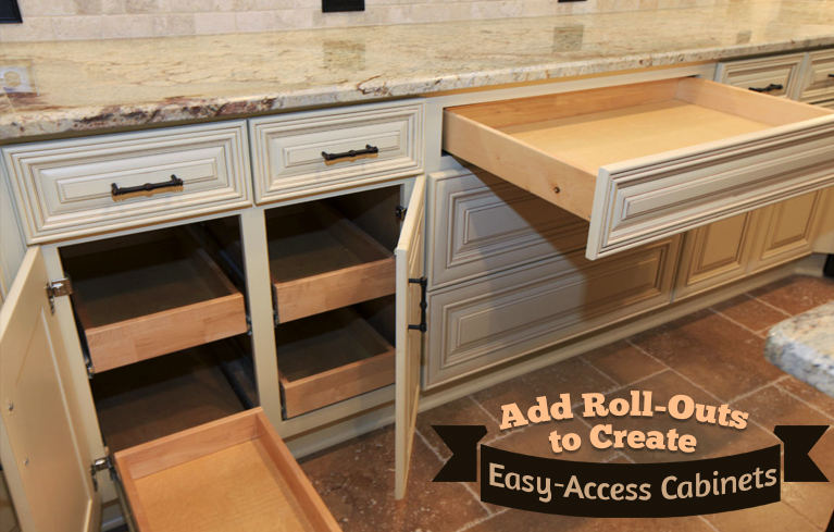 Cabinet roll-outs offer easy access.