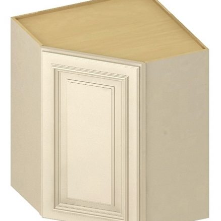 DCW2442 Diagonal Corner Wall Cabinet 24 inch by 42 inch Cambridge Antique White