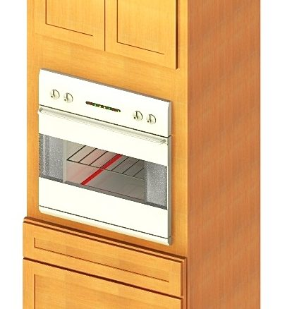 O338424 Universal Oven Cabinet 33 inch by 84 inch by 24 inch Shaker Sandstone