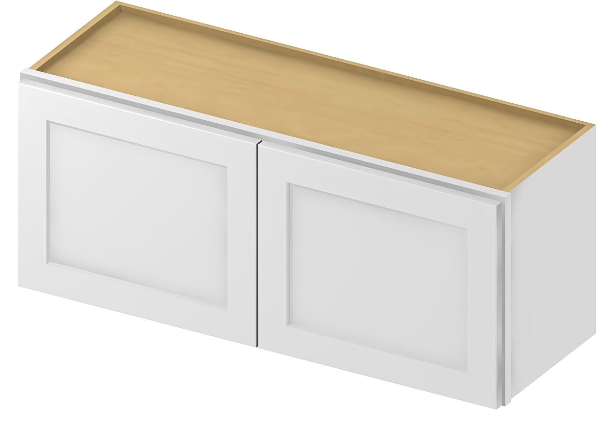W3618 Bridge Cabinet 36 inch by 18 inch Shaker White