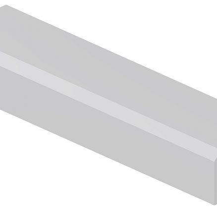 ALRM Angle Light Rail Molding Shaker White