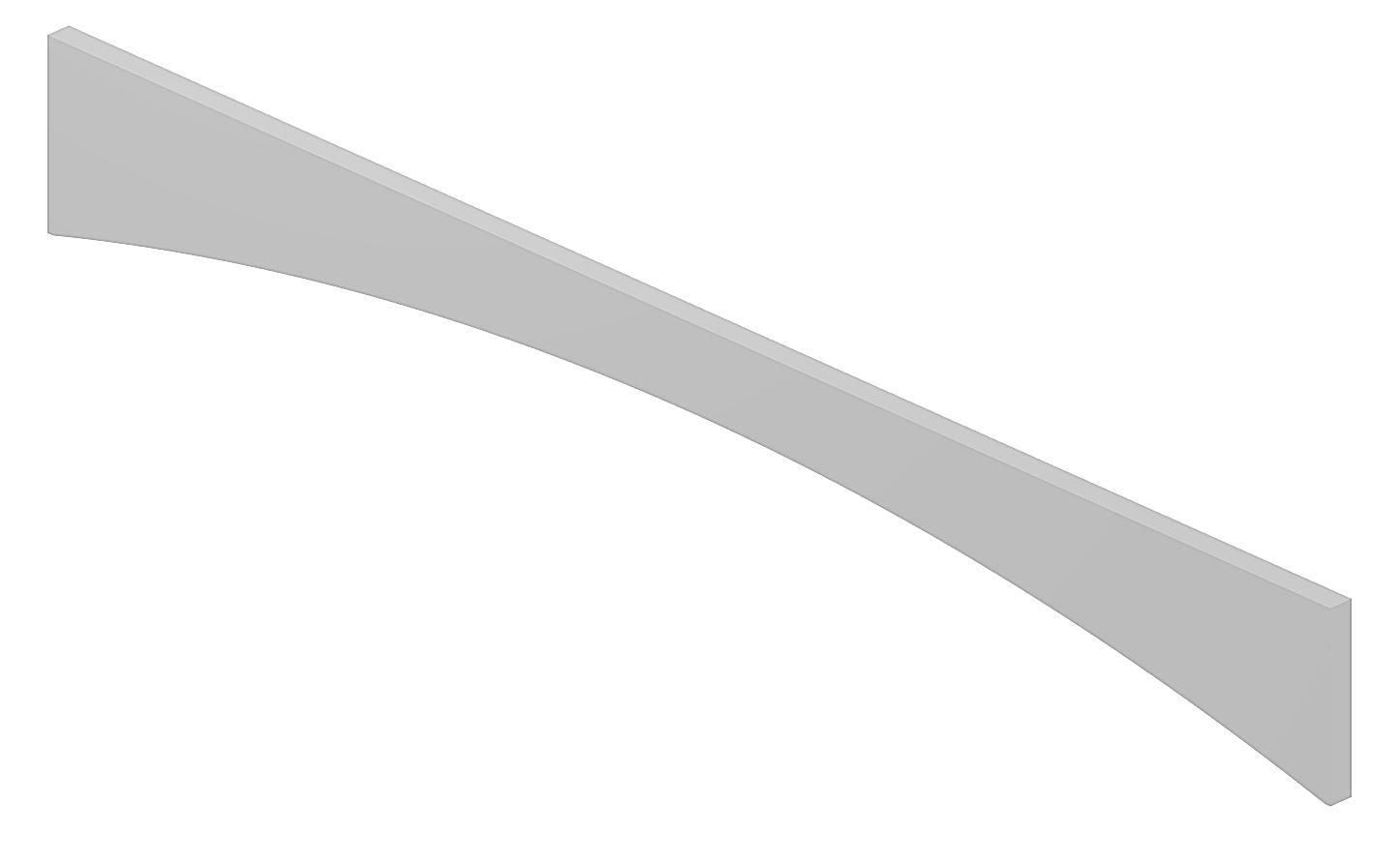 VA48 Arched Valance Shaker White
