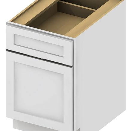 DFB18 Two Drawer File Base Cabinet 18 inch Shaker White