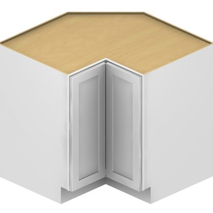 LSB36 Lazy Susan Cabinet 36 inch with 2 Stainless Steel Baskets Shaker White