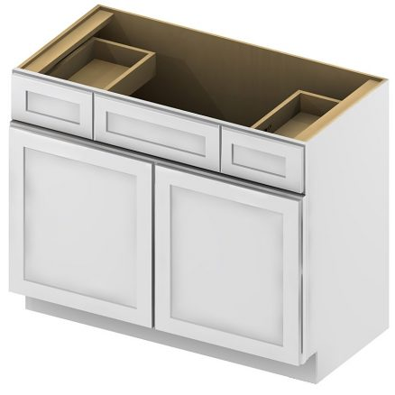 VSD36 Vanity Sink Drawer Base Cabinet 36 inch Shaker White