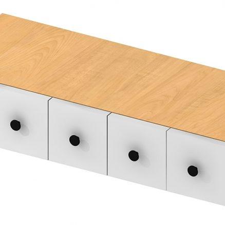 WSD630 Wall Spice Drawer Shaker White