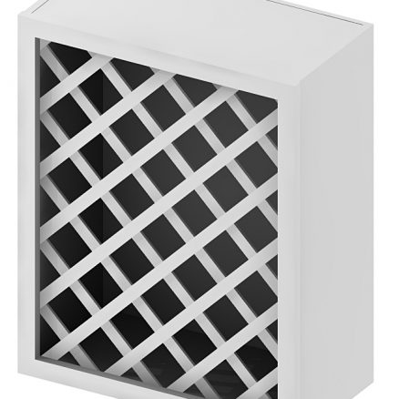 WRC2430 Wine Rack Wall Cabinet 24 inch by 30 inch Shaker White