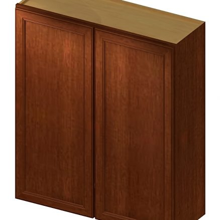 W2442 Wall Cabinet 24 inch by 42 inch Yorkshire Chocolate