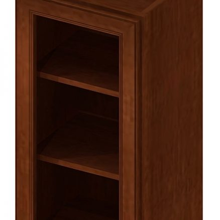 W1530GD Wall Cabinet with Open Door Frame 15 inch by 30 inch Yorkshire Chocolate