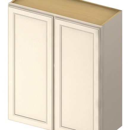 W3336 Wall Cabinet 33 inch by 36 inch Yorkshire Antique White