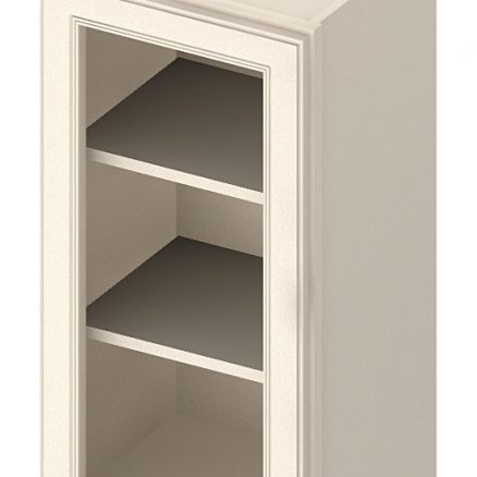 W1542GD Wall Cabinet with Open Door Frame 15 inch by 42 inch Yorkshire Antique White