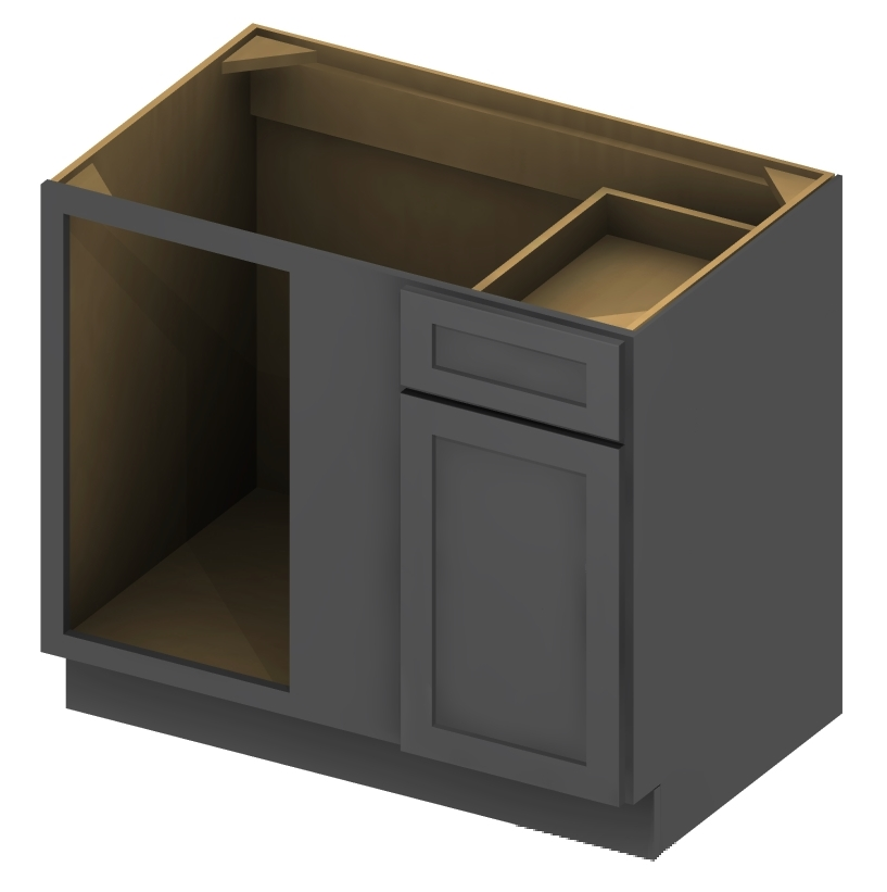 Cabinet Corp Shaker Dusk: BBC36 Blind Base Cabinet 36 Inch Shaker Gray 1