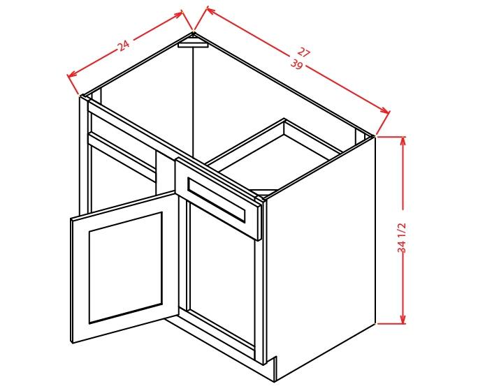 BBC36 Blind Base Cabinet 36 inch Shaker Gray