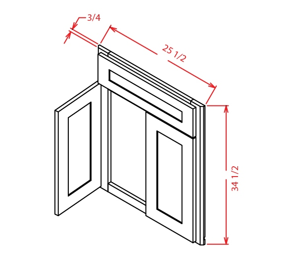 DCSF42 Diagonal Corner Sink Base Front Shaker Gray