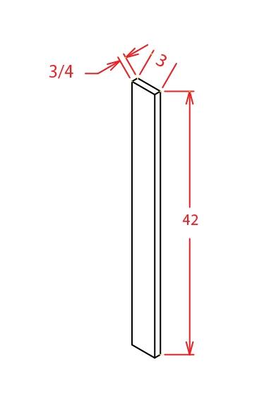 F342 Wall Filler 3 inch Wide Shaker Gray