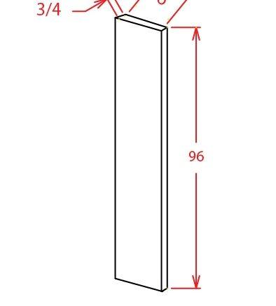F696 Tall Filler 6 inch Wide Shaker Gray