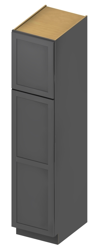 U189024 Wall Pantry Cabinet 18 inch by 90 inch by 24 inch Shaker Gray