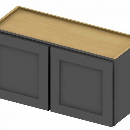 W3015 Bridge Cabinet 30 inch by 15 inch Shaker Gray