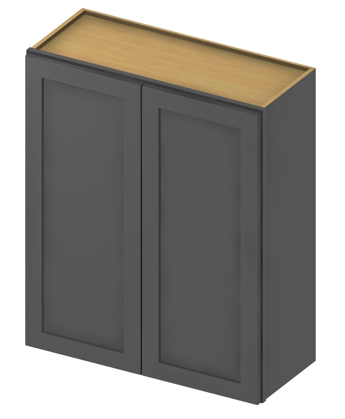 W2736 Wall Cabinet 27 inch by 36 inch Shaker Gray