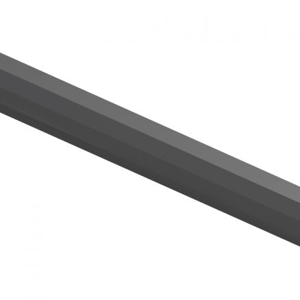 ACM8 Angled Crown Molding Shaker Gray