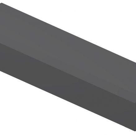 ALRM Angle Light Rail Molding Shaker Gray