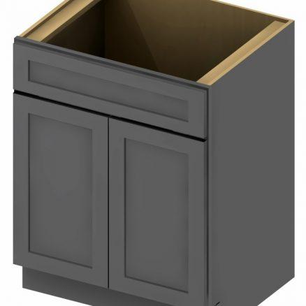 VS24 Vanity Sink Base Cabinet 24 inch Shaker Gray