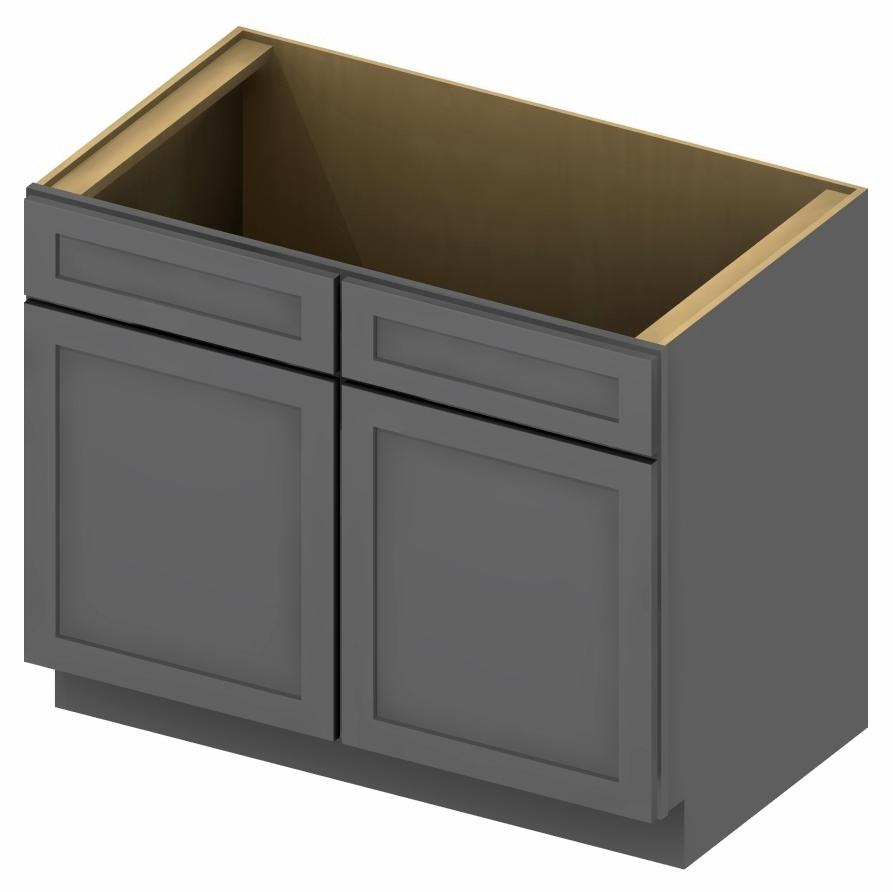 SG-SB30 - Sink Base - 30 inch - Shaker Gray Base Cabinets ...