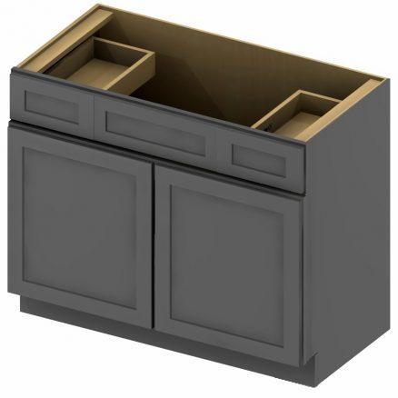 VSD36 Vanity Sink Drawer Base Cabinet 36 inch Shaker Gray