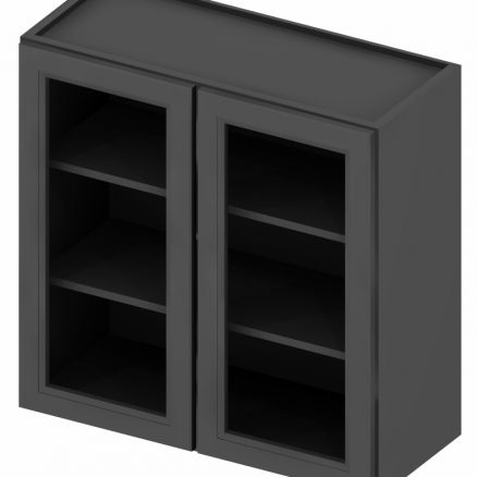 W2430GD Wall Cabinet with Open Door Frame 24 inch by 30 inch Shaker Gray