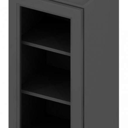 W1542GD Wall Cabinet with Open Door Frame 15 inch by 42 inch Shaker Gray