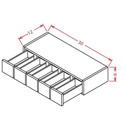 WSD630 Wall Spice Drawer Shaker Gray