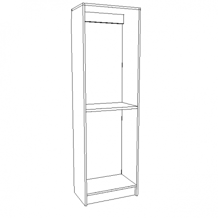 """White 24"""" Cabinet Chassis"""